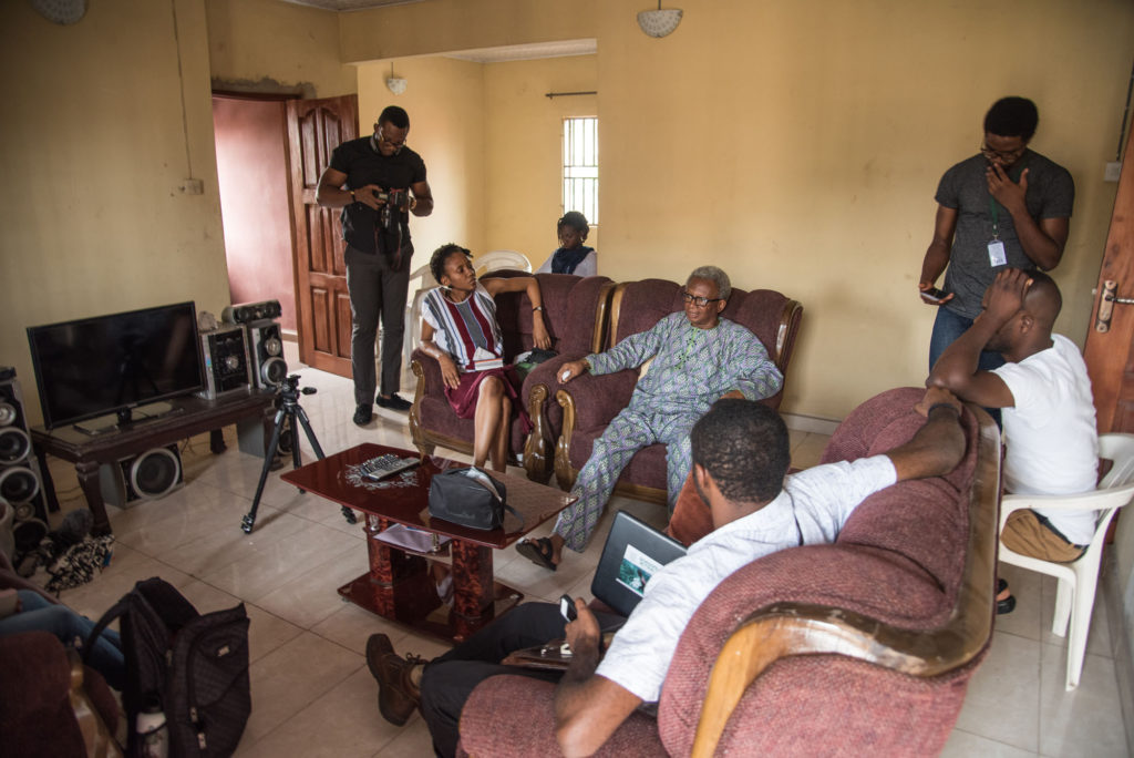 Visiting and discussing with Charles Okonkwo, Uches Dad